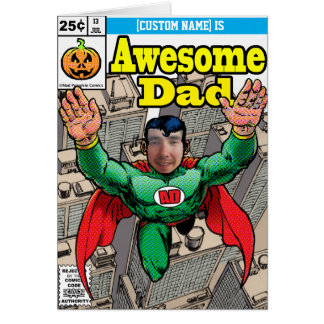 Customizable Superhero Comic Birthday Greeting Card