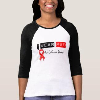 Customize I Wear Red Ribbon Blood Cancer Shirt