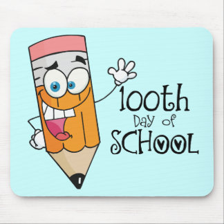 Cute 100th Day Of School Cartoon Gift Mouse Pad