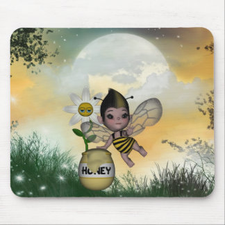 Cute Adorable Baby Bumble Bee Honey Mouse Pad