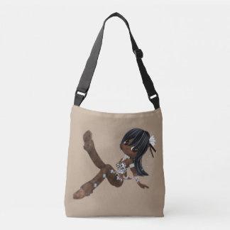 Cute African American Woman Body Bag Tote Bag