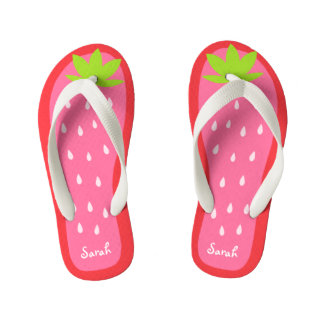 Cute and Sweet Pink Strawberry for Girl Flip Flops