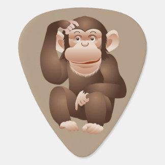 Cute animated monkey guitar pick