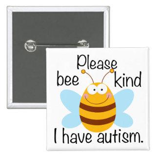 Cute Autism Pun 15 Cm Square Badge