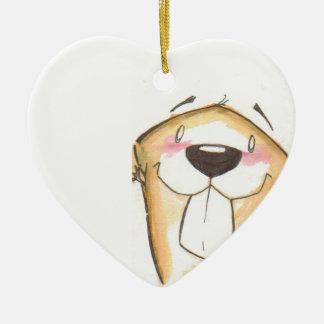 cute beaver ornament