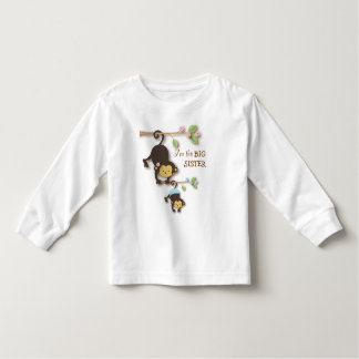 Cute Big Sister Monkey with Lil' Baby Brother T-shirts