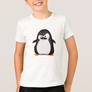 Cute Black  White Penguin And  Funny Mustache Tee Shirts