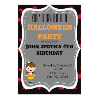 Cute Bloody Candy Corn Halloween invite