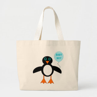 Cute Blue Baby Boy Penguin Tote Bag