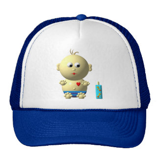 Cute boy with heart cap