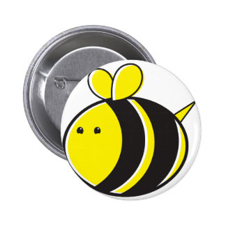 Cute bumble bee 6 cm round badge
