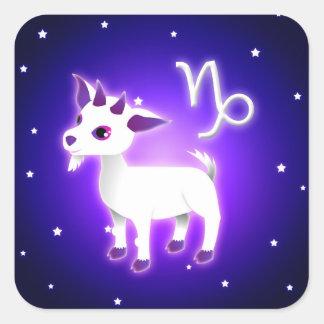 Cute Capricorn Zodiac Square Sticker