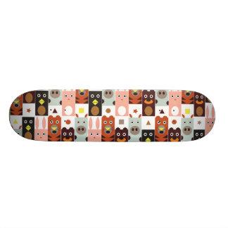 Cute Cartoon animal skateboards: Five friends 21.6 Cm Old School Skateboard Deck