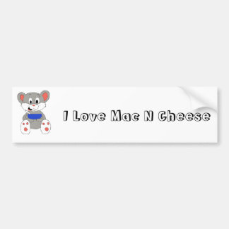 Cute Cartoon Mouse Bumper Sticker
