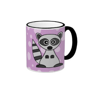 Cute Cartoon Raccoon Ringer Mug