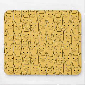 Cute cats pattern mouse pad