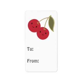 Cute Cherries Address Label