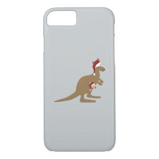 Cute Christmas Kangaroos iPhone 7 Case