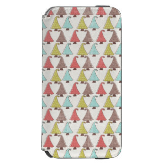 Cute Christmas Trees Pattern Incipio Watson™ iPhone 6 Wallet Case