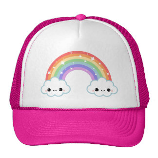 Cute Clouds with Rainbow Cap