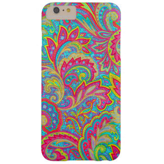 Cute colorful vintage floral design barely there iPhone 6 plus case