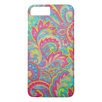 Cute colorful vintage floral design iPhone 7 plus case