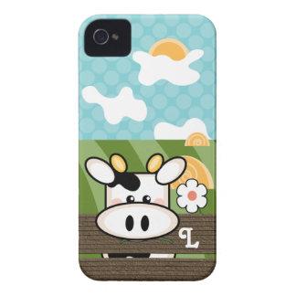 Cute Cow iPhone 4 Case Mate Initial