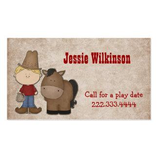Cute Cowboy Custom Playdate Card Pack Of Standard Business Cards