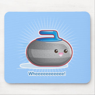 Cute Curling Stone Mouse Pad