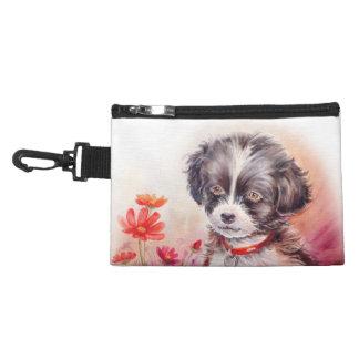 Cute Dog Art Clip On Bag Accessories Bag