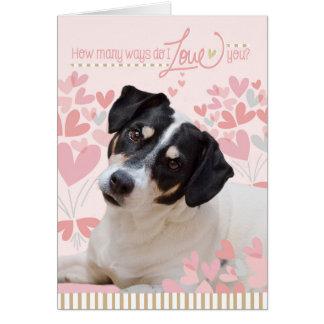 Cute Dog Valentines Card - How Many Ways Do I Love