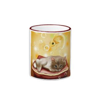 Cute Dream Kitten Ringer Mug