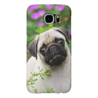 Cute fawn pug puppy samsung galaxy s6 cases