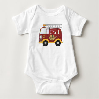 Cute Fire Truck Kids Birthday Personalized Tshirts