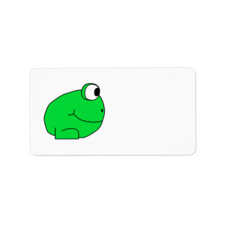 Cute Frog. Address Label