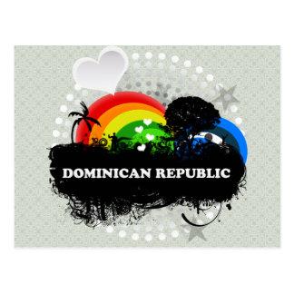 Cute Fruity Dominican Republic Postcard