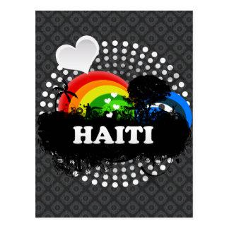 Cute Fruity Haiti Postcard