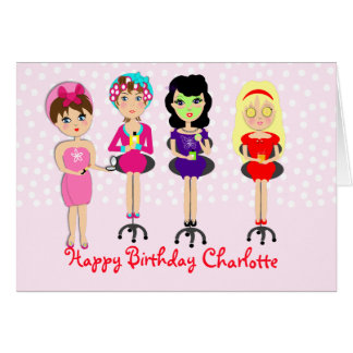 Cute Fun Girly Pamper Spa Party Theme For Girls Greeting Card