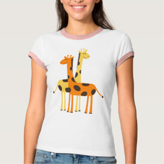 Cute Funny Giraffe Pair Shirt