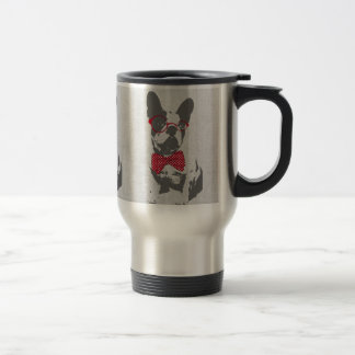Cute funny trendy vintage animal French bulldog Stainless Steel Travel Mug