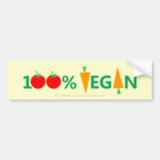 Cute Funny Vegan Bumper Sticker