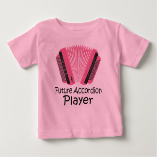 Cute Future Accordion Player Baby Tee