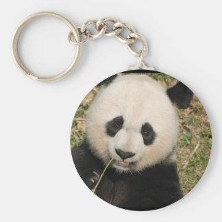Cute Giant Panda Bear Basic Round Button Key Ring