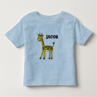 cute giraffe- add your child's name tee shirts