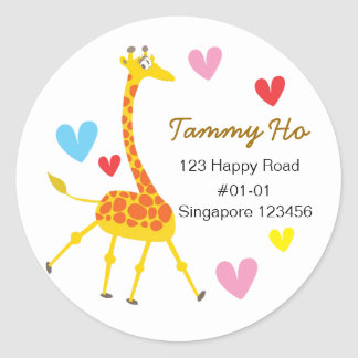 Cute Giraffe Return Address Sticker