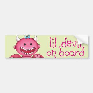Cute Girl Devil Bumper Sticker