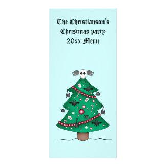 Cute gothic Christmas tree Rack Card