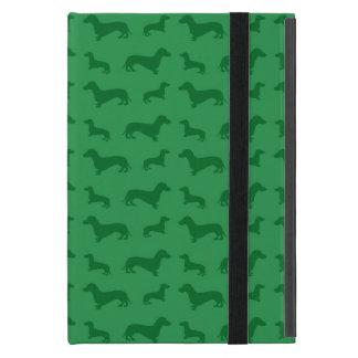 Cute green dachshund pattern iPad mini cover