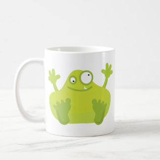Cute Green Monster Mug