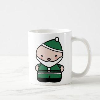 Cute Green Santa Mug- My Very First Christmas Basic White Mug